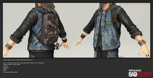 Watch Dogs Bad Blood By Antoine Rol Charater Clothes Modeler Zerply